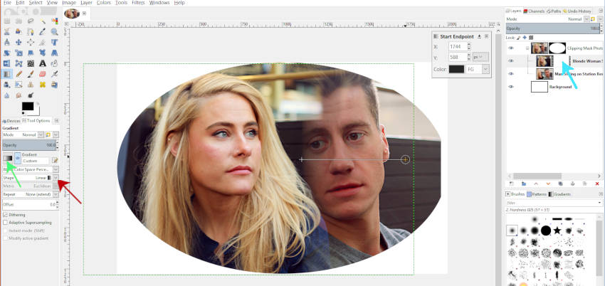 Using the Gradient Tool on Your Clipping Mask