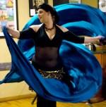 Davina doing Double Veil at the Bean Scene