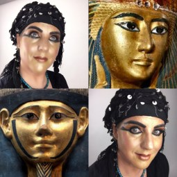 Egyptian Inspired Gilded Makeup