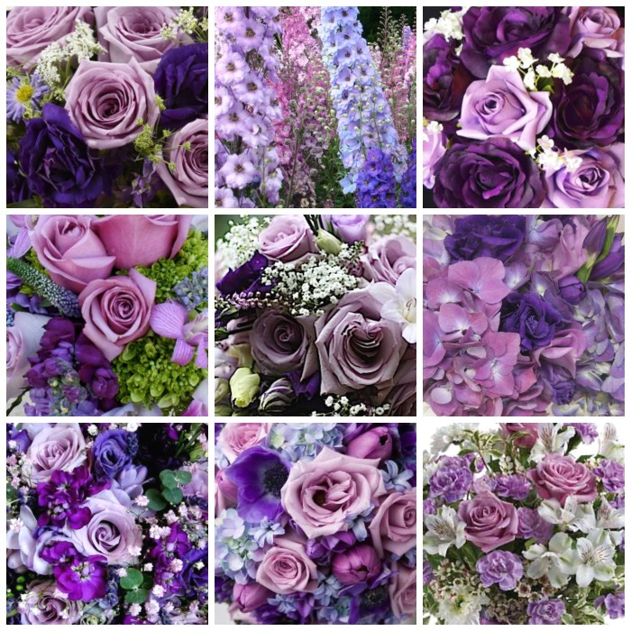Lavender and Purple floral bouquet mood board made using PicMonkey | Dawn Devine of Studio Davina - www.davina.us
