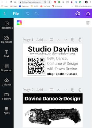 Design a business card using Canva.com