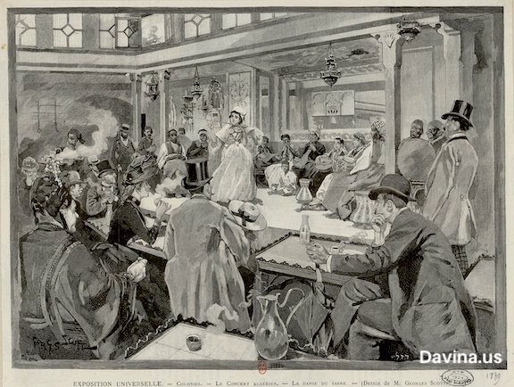 Concert Algerian - Paris World's Fair 1889