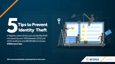 FIVE Tips To Prevent Identity Theft