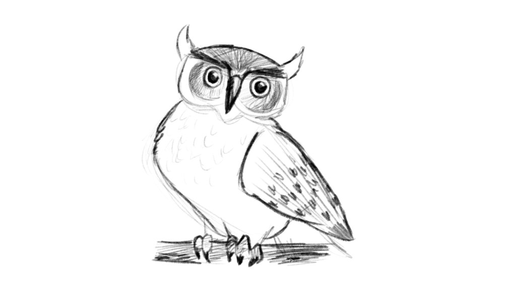 How to add talons to your owl drawing