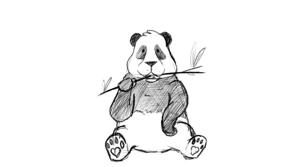 Panda black and white pattern