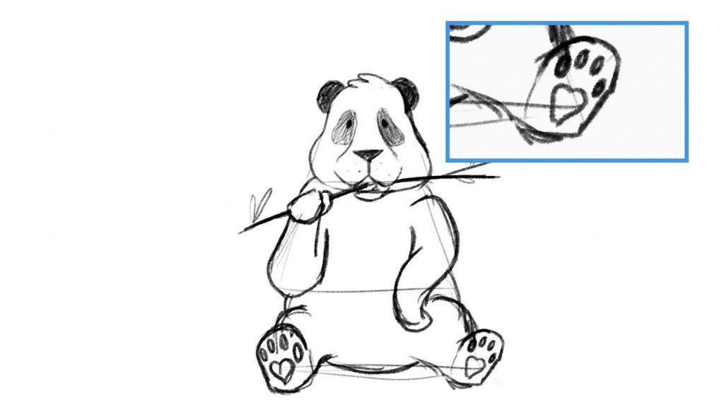 Cartoon panda drawing