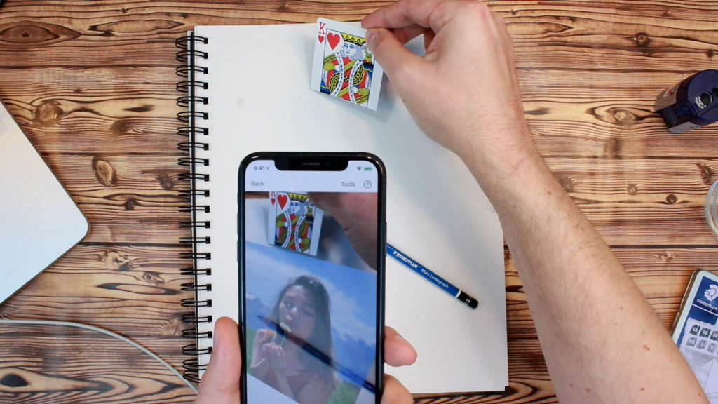 Augmented Reality Anchor For iOS Drawing App