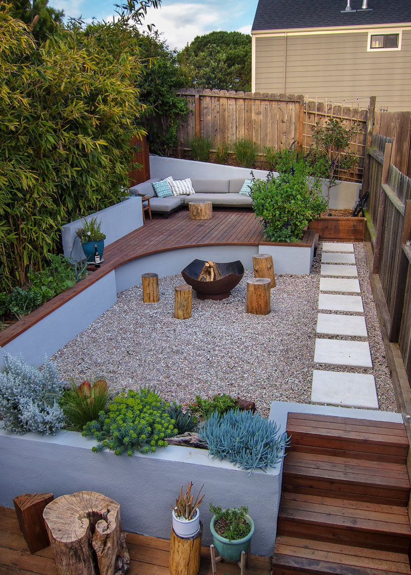 CONTEMPORIST: Multiple Levels Give This Small Yard Room ... on Modern Landscaping Ideas For Small Backyards  id=91201