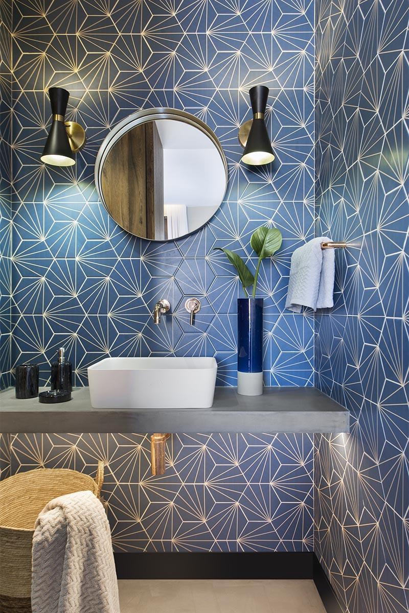 CONTEMPORIST: Bathroom Design Ideas - A Blue Starburst ... on Bathroom Tile Design Ideas  id=28797