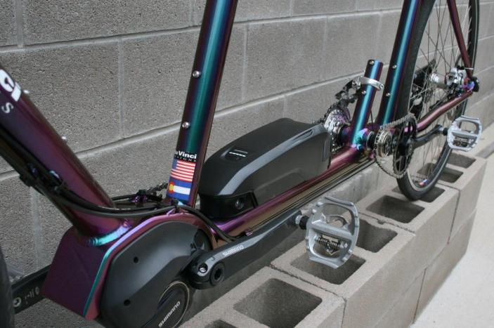 Electric Assist Tandem bicycle, w/ independent coasting