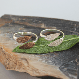 DaVine Jewelry, Sage Leaf Wrapping Rings