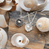DaVine Jewelry, Sterling Silver Shell and White Freshwater Pearl Pendant