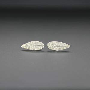 DaVine Jewelry, Sterling Silver Sage Leaf Stud Earrings
