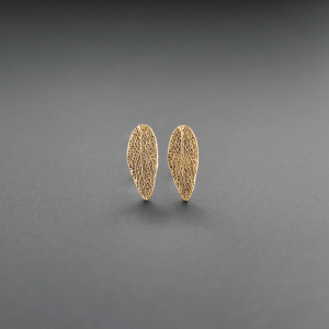 DaVine Jewelry, Sage Leaf Stud Earrings in Bronze