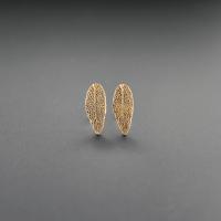 DaVine Jewelry, Sage Leaf Stud Earrings in Bronze