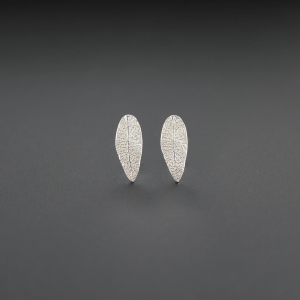 DaVine Jewelry, Small Sterling Silver Sage Leaf Stud Earrings