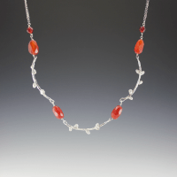 DaVine Jewelry, Sterling Silver Branches Carnelian Necklace