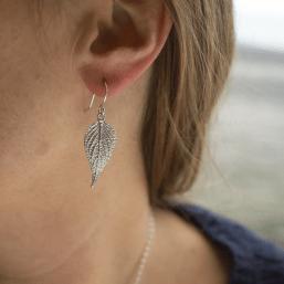 DaVine Jewelry, Sterling Silver Pineapple Sage Leaf Earrings