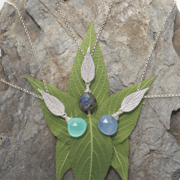 DaVine Jewelry, Pineapple Sage Leaf Gemstone Pendants