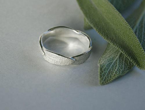 DaVine Jewelry, Silver Sage Leaf Ring