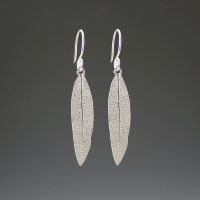 DaVine Jewelry, Sterling Silver Sage Leaf Dangle Earrings