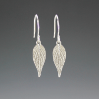 DaVine Jewelry, Small Sterling Silver Pineapple Sage Leaf Dangle Earrings