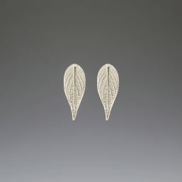 DaVine Jewelry, Pineapple Sage Leaf Stud Earrings Silver