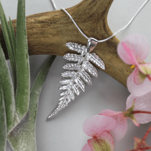 DaVine Jewelry, Sterling Silver Fern Necklace