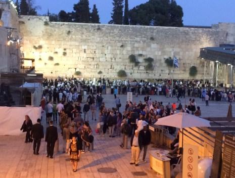The Western Wall on Shabbat