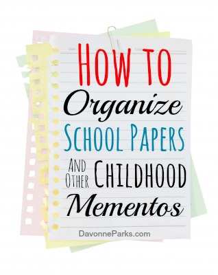 Need help in knowing how to choose which school papers and other childhood mementos to keep and which ones to toss? Check out this helpful article with great tips and simple storage solutions!