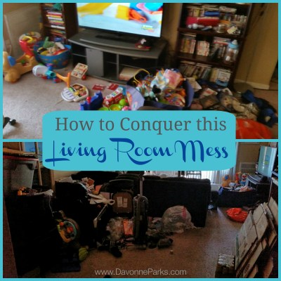 How to Conquer the Living Room Mess