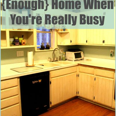 How Busy People Keep Clean {Enough} Homes