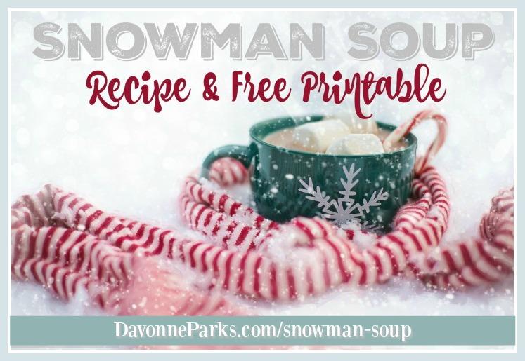 graphic regarding Snowman Soup Printable identified as Cost-free Snowman Soup Poem Printable - Davonne Parks