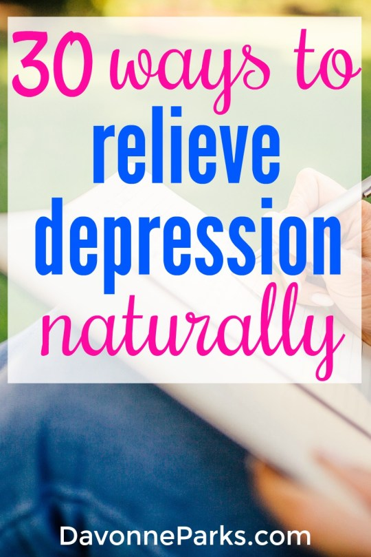 30 ways to naturally relieve depression. If you or a loved one has ever suffered from depression, this list is a must-see! Realistic, practical ideas that actually help to naturally boost your emotional well-being.