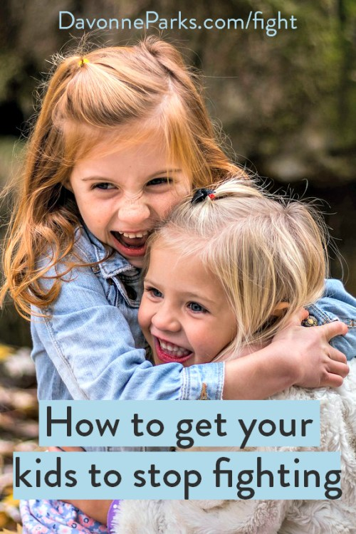 How to get your kids to stop fighting. WOW, I tried it and these 2 simple ways actually work! AMAZING! You have to try this!!