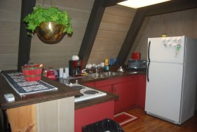 Located in Indian River, MI (Exit 310 off I-75), the cabin is completely furnished with linens, appliances, and more - a true home away from home!