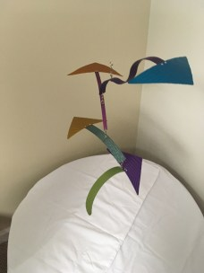 Geometric mobile by Marvin and Michelle Shafer