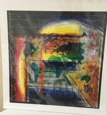 Rainbow world print by Marvin Murphy