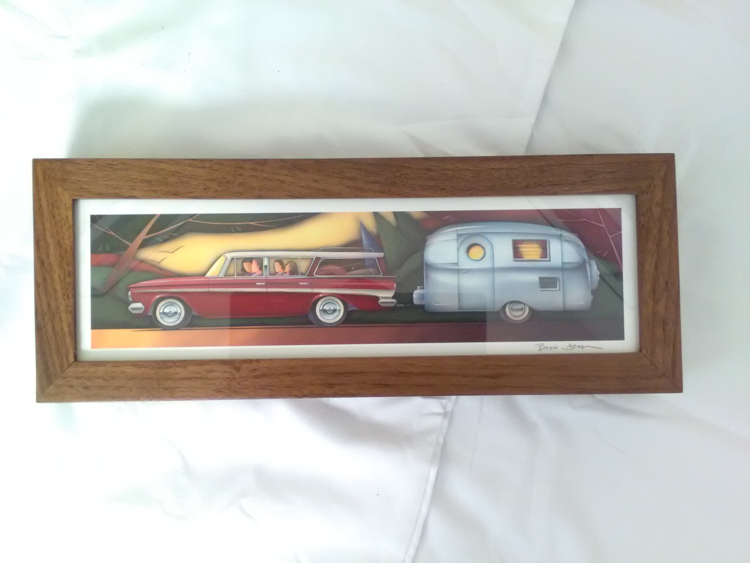 Car print with wooden frame by Brian Jensen