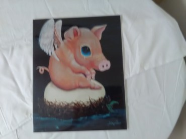Baby pig print by R.L. Alexander
