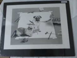 Kitten and pug print by Robin Laursdorg