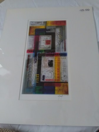 Abstract colorful squares by Marvin Murphy