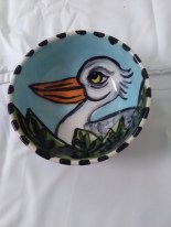 Small heron bowl by Toni & Jay Mann