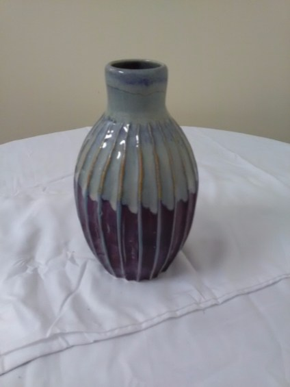 Fluted vase by David Nelson