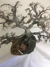 Metal apple tree sculpture by Wayne Trinklein