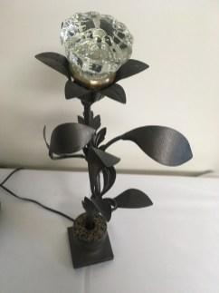Metal flower lamp by Kathy Lochmann