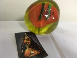 Glass paperweight by Berry Davis & Colette Fortin