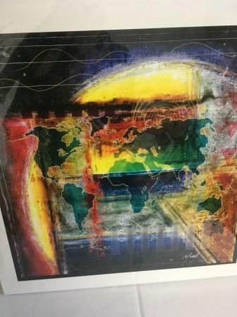"""Earth Island"" painting by Murf"