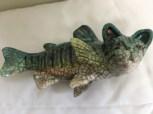 """KItten Fish"" ceramic sculpture by Rosemary Bennett"