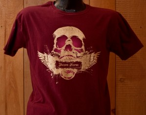 Dawn Farm Skull with Wings T-Shirt